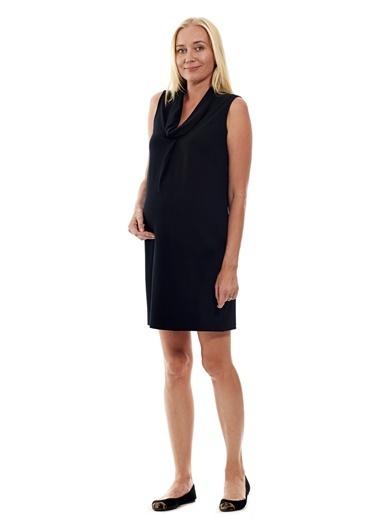 Motherway Maternity Hamile Elbise Siyah